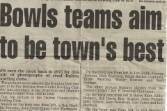 Dalton Bowls Teams 1975